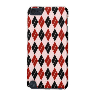 Stylish Black and Red Argyle Plaid Pattern iPod Touch 5G Cases