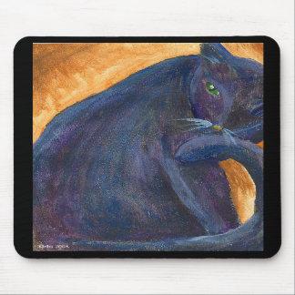 Stylish Black Cat Mousepad