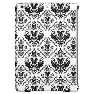 Stylish Black White Damask Decorate Pattern
