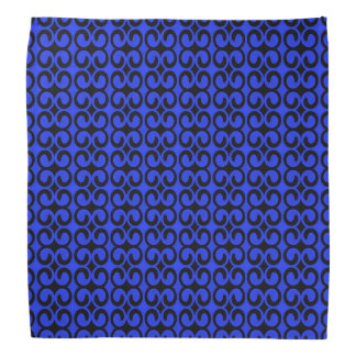 Stylish Blue and Black Pattern Bandanas