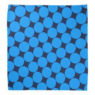 Stylish Blue Polka Dot Bandana