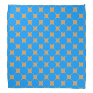 Stylish Blue Polka Dot Head Kerchief