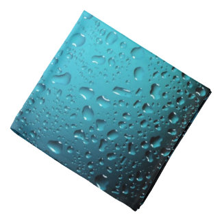 Stylish Cool Blue water drops Kerchiefs