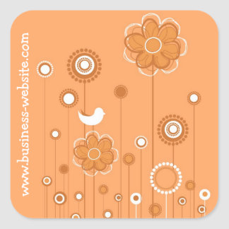 Stylish Floral Business Sticker