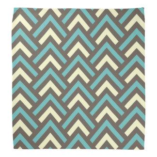 Stylish Geometric Triangles Retro Stripes Pattern Bandana