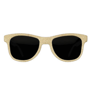 Stylish Gold Glitter Sunglasses