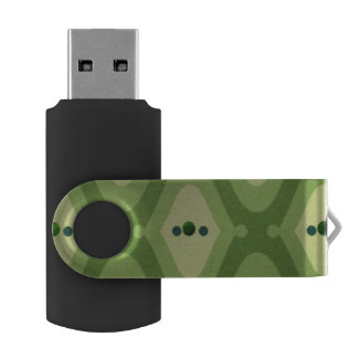 Stylish Green Swirl 16 GB Flash Drive
