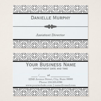 Stylish Grey and White Geometric Appointment Business Card