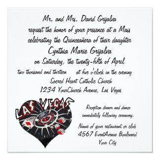 Stylish Las Vegas Quinceanera 13 Cm X 13 Cm Square Invitation Card