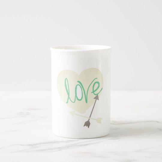Stylish Love Heart Arrows Coffee Tea Mug Cup