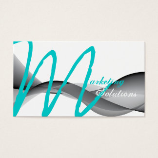 Stylish Modern Marketing Monogram Business Card