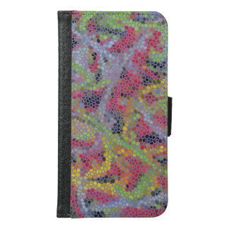 Stylish modern mosaic pattern samsung galaxy s6 wallet case