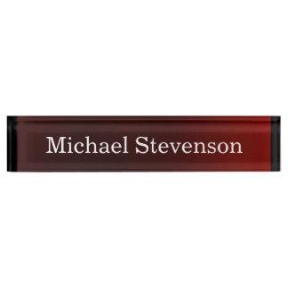 Stylish Modern Red Elegant Nameplate