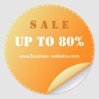 Stylish Modern Sale Glassy Business Sticker