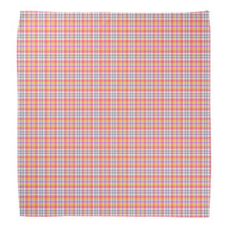 Stylish orange checkered Pattern Bandanas