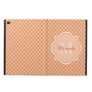 Stylish Orange Quatrefoil Monogram With Name Powis iPad Air 2 Case