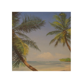 Stylish Palm Tree Wood Print