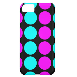 Stylish Patterns for Her : Pink & Cyan Polka Dots Case For iPhone 5C