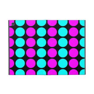 Stylish Patterns for Her : Pink & Cyan Polka Dots iPad Mini Case