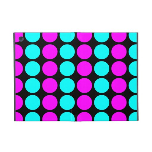 Stylish Patterns for Her : Pink & Cyan Polka Dots iPad Mini Case