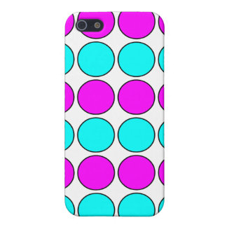 Stylish Patterns for Her : Pink & Cyan Polka Dots Case For iPhone 5