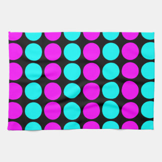 Stylish Patterns for Her : Pink & Cyan Polka Dots Towels
