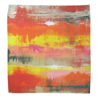 Stylish Red Pink Yellow Abstract No. 155 Bandana