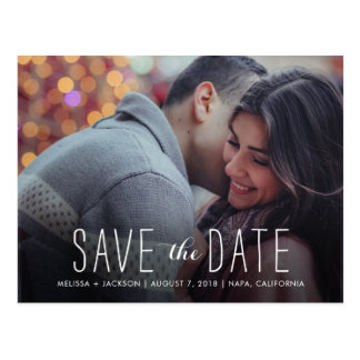 Stylish Save the Date Postcard
