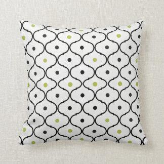 Stylish Scallopes and Polka Dot Pillow