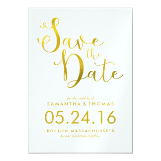 Stylish Script Wedding Save the Date 13 Cm X 18 Cm Invitation Card
