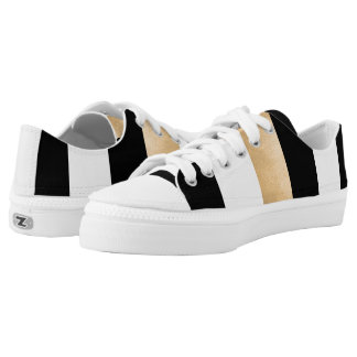 Stylish Striped ZipZ Tennis Shoes