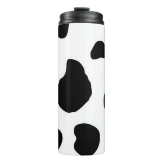 Stylish Thermal Flask With Cow Patch Design Thermal Tumbler