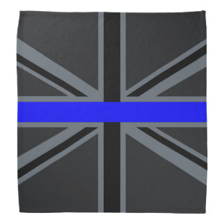 Stylish Thin Blue Line Union Jack Head Kerchief