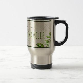 Stylish Traveler's Mug with Organic Theme