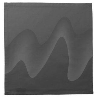 Stylish Wave Design in Dark Gray. Napkin