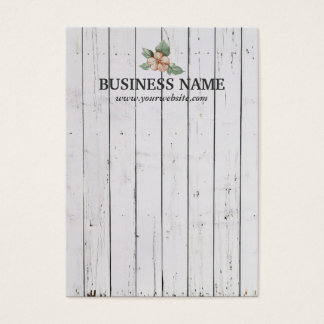 Stylish Weathered White Wood Stripes Earring Cards