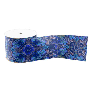 Stylish whimsical lux floral watercolor pattern grosgrain ribbon