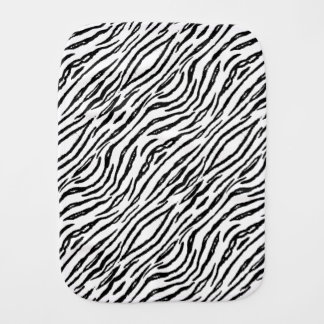 Stylish White Tiger Stripes Modern Animal Print Burp Cloth