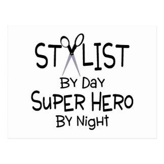 Stylist By Day Super Hero By Night Postcard