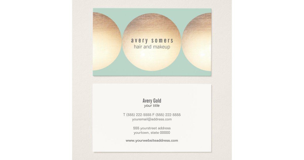 Stylist gold circle light turquoise beauty salon business for Salon turquoise