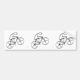 Stylized Bicyclist Design Bumper Sticker