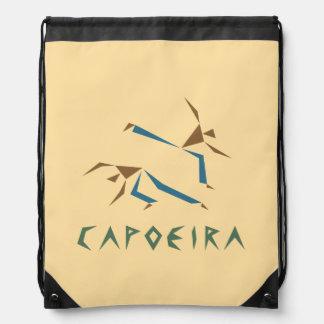 Stylized Capoeira Drawstring Bag