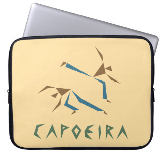 Stylized Capoeira Laptop Sleeve