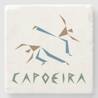 Stylized Capoeira Stone Beverage Coaster