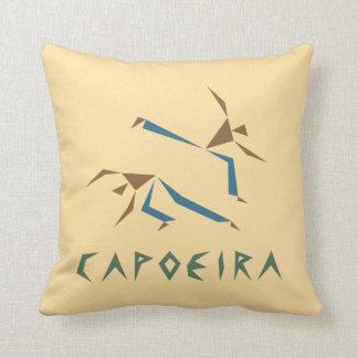 Stylized Capoeira Throw Pillow