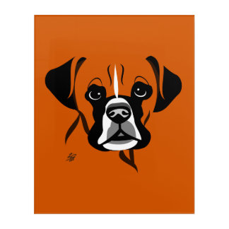 Stylized Dog Art Of Boxer