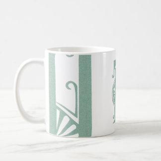 "Stylized Soft Green Letter ""D"" Mug"