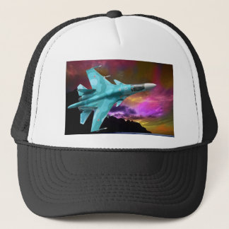SU-30 RUSSIAN FIGHTER JET TRUCKER HAT