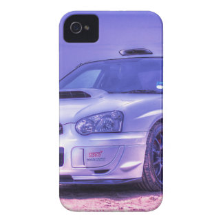 Subaru Impreza WRX STi Spec C in White iPhone 4 Cases