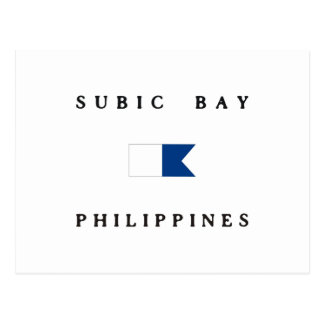 Subic Bay Philippines Alpha Dive Flag Postcard